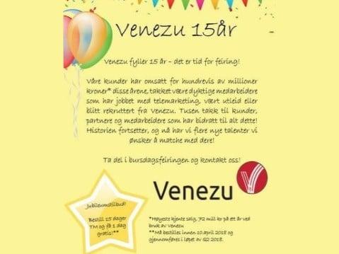 Venezu er Norges beste møtebooker - fylte nylig 15 år